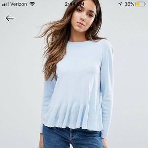 Sweaters - Warehouse Frill Hem Sweater